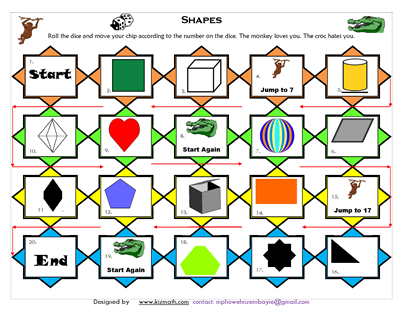 graphic relating to Printable Math Board Games named Instruction Components for ESL, Math Training - Math Board Game titles